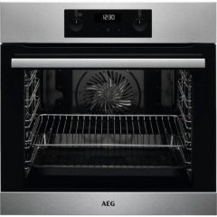 AEG BES255011M Built In Electric Single Oven Stainless Steel A Energy Rated