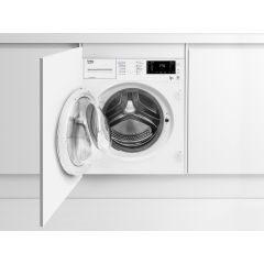 Beko WDIC752300F2 7Kg/5Kg 1200 Spin Built In Washer Dryer - White - B Rated