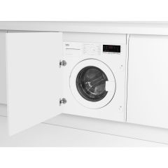 Beko WIC74545F2 7Kg 1400 Spin Built In Washing Machine - White - A+++ Rated