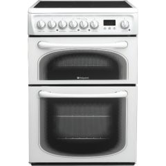 Hotpoint 60HEPS 60cm, Double Oven, Ceramic White