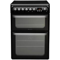 Hotpoint HUE61KS Double Oven Electric, Ceramic , Programmable Timer `aa` Energy Black