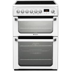 Hotpoint HUE61PS Double Oven Electric, Ceramic , Programmable Timer `aa` Energy White