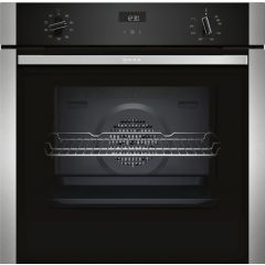 NEFF B1ACE4HN0B Electric CircoTherm Single Oven Oven - BLACK/STEEL - A Energy Rated