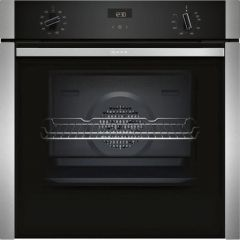 Neff B3ACE4HN0B Slide + Hide Built In Electric Single Oven - Stainless Steel