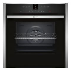 Neff B57CR23N0B Pyrolytic Slide + Hide Built In Electric Single Oven - Stainless Steel - A+ Rated