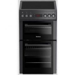 Blomberg HKS900N 50Cm Double Oven Electric Cooker With Ceramic Hob - Anthracite - A Energy Rated