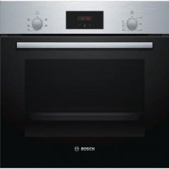 Bosch HHF113BR0B Serie 2 Built In Electric Single Oven with 3D Hot Air - Stainless Steel - A Rated