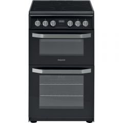 Hotpoint HD5V93CCB 50Cm Cooker - Twin Cavity