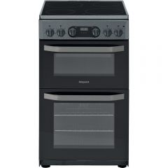 Hotpoint HD5V93CCSS Electric Cooker 50Cm Silver