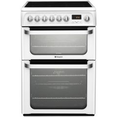 Hotpoint HUE62PS 60cm Ultima, Double Oven, Ceramic White